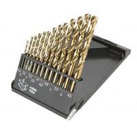 Набор сверл по металлу HSS-TIN 1,5 - 6,5 мм