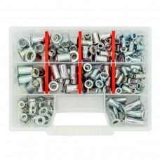 Набор резьбовых заклепок GOEBEL M5-M10 из оцинкованной стали Standart (170 шт)