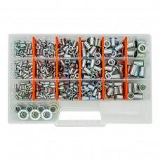 Набор резьбовых заклепок GOEBEL M3-M12 из оцинкованной стали Standart (470 шт)
