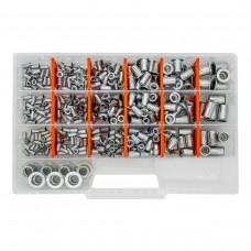 Набор резьбовых заклепок GOEBEL M3-M12 из нержавеющей стали Standart (470 шт)