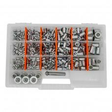 Набор резьбовых заклепок GOEBEL M3-M12 из нержавеющей стали Professional  (470 шт + зенкер)
