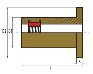 Неопреновая втулка с внутренней резьбой