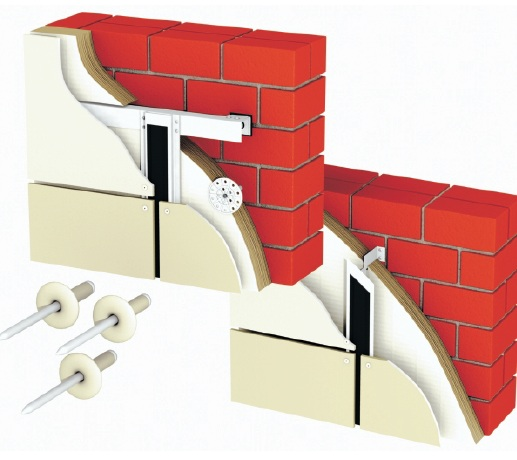 Крепление фасадных плит к металлическому каркасу