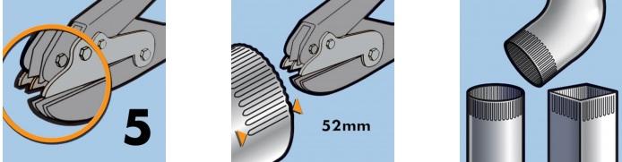 Гофроножницы EDMA усиленные, 5 лезвий
