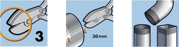 Гофроножницы EDMA прямые, 3 лезвия