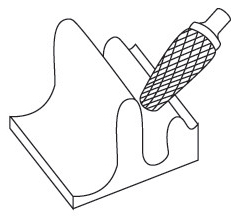 Борфрезы твёрдосплавные форма L круглый конус (KEL) RUKO